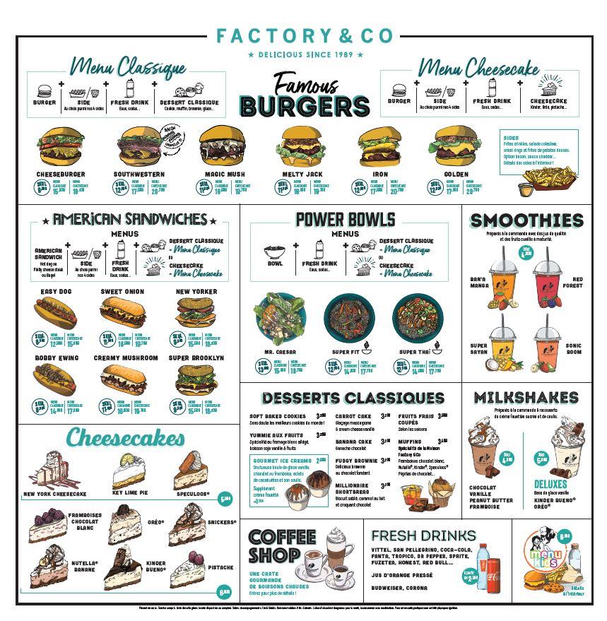 Nouvelle carte chez Factory & Co